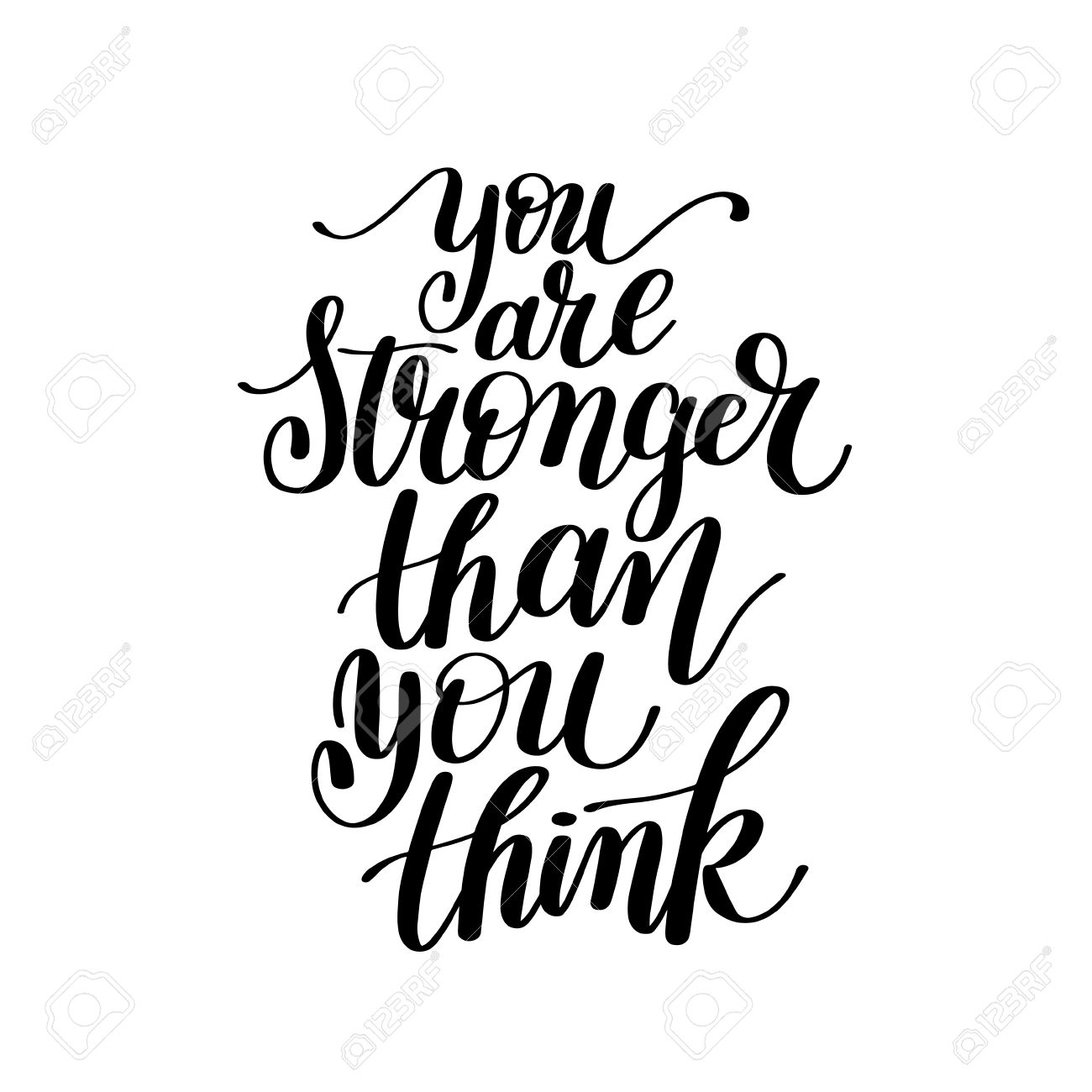 You Are Stronger Than You Think Vector Text Phrase Image