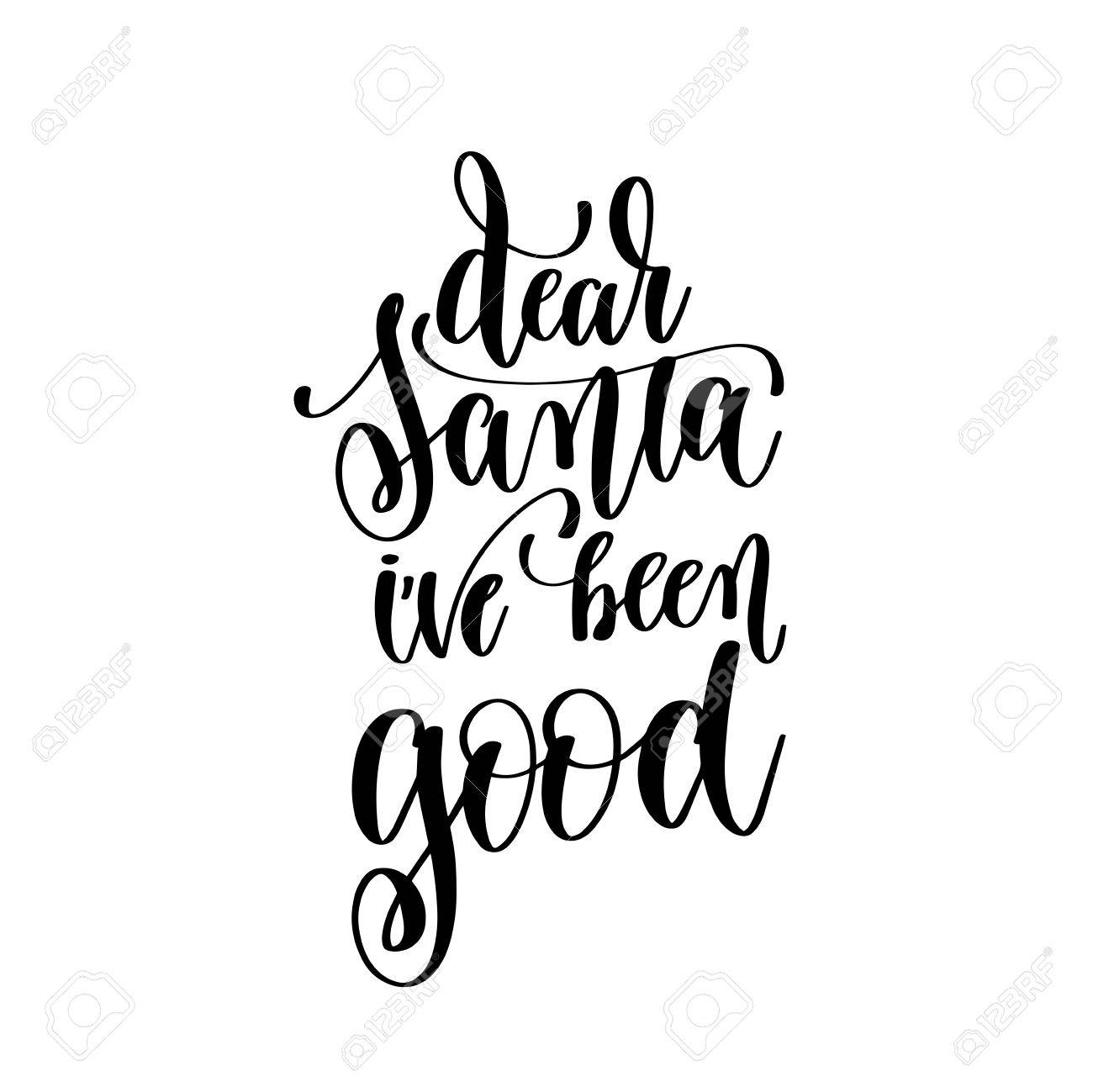 Stock illustration 3d red text quot yes quot stock illustration royalty - Chris Dear Santa Ive Been Good Hand Lettering Positive Quote To Chris Illustration