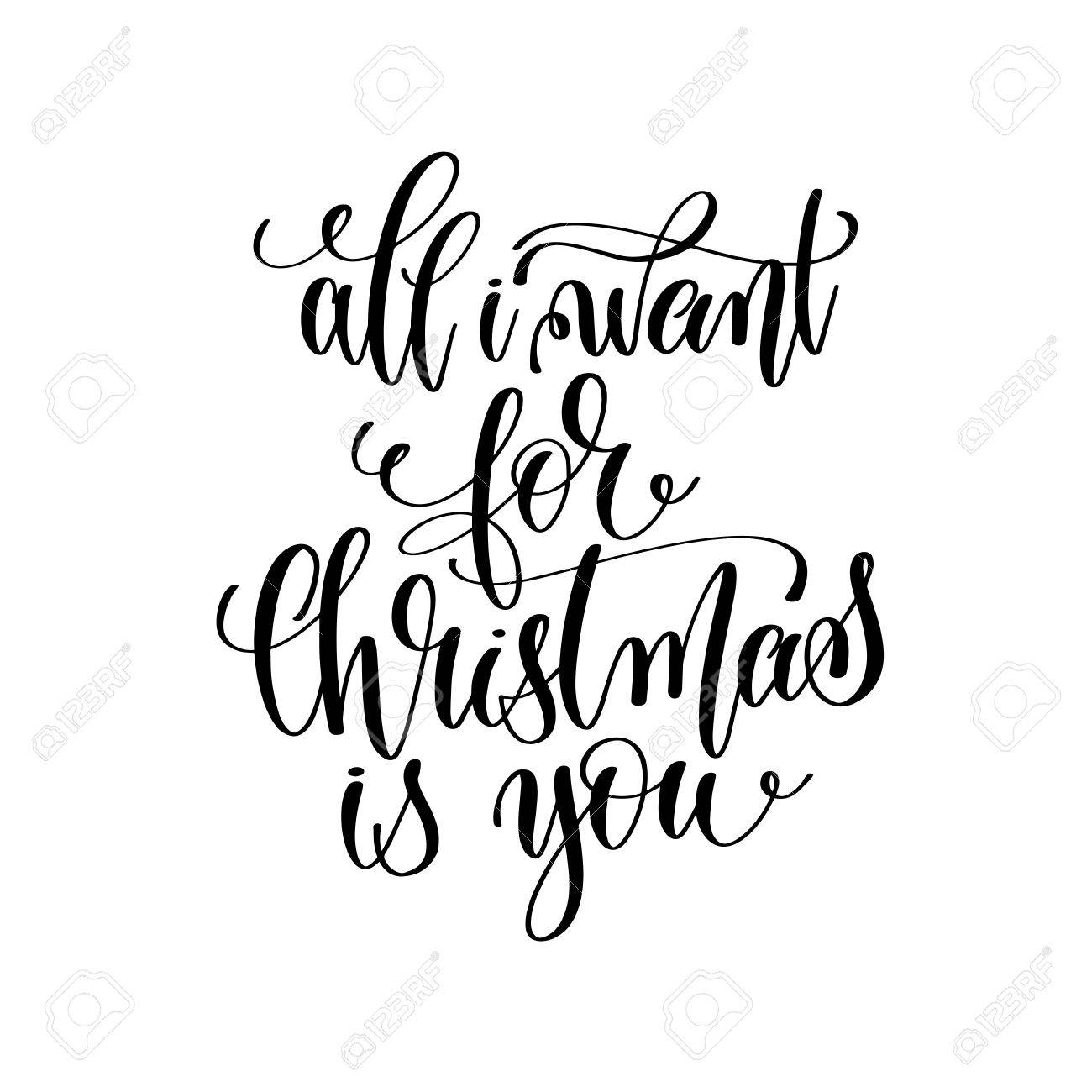 All I Want For Christmas Is You - Hand Lettering Positive Romant ...