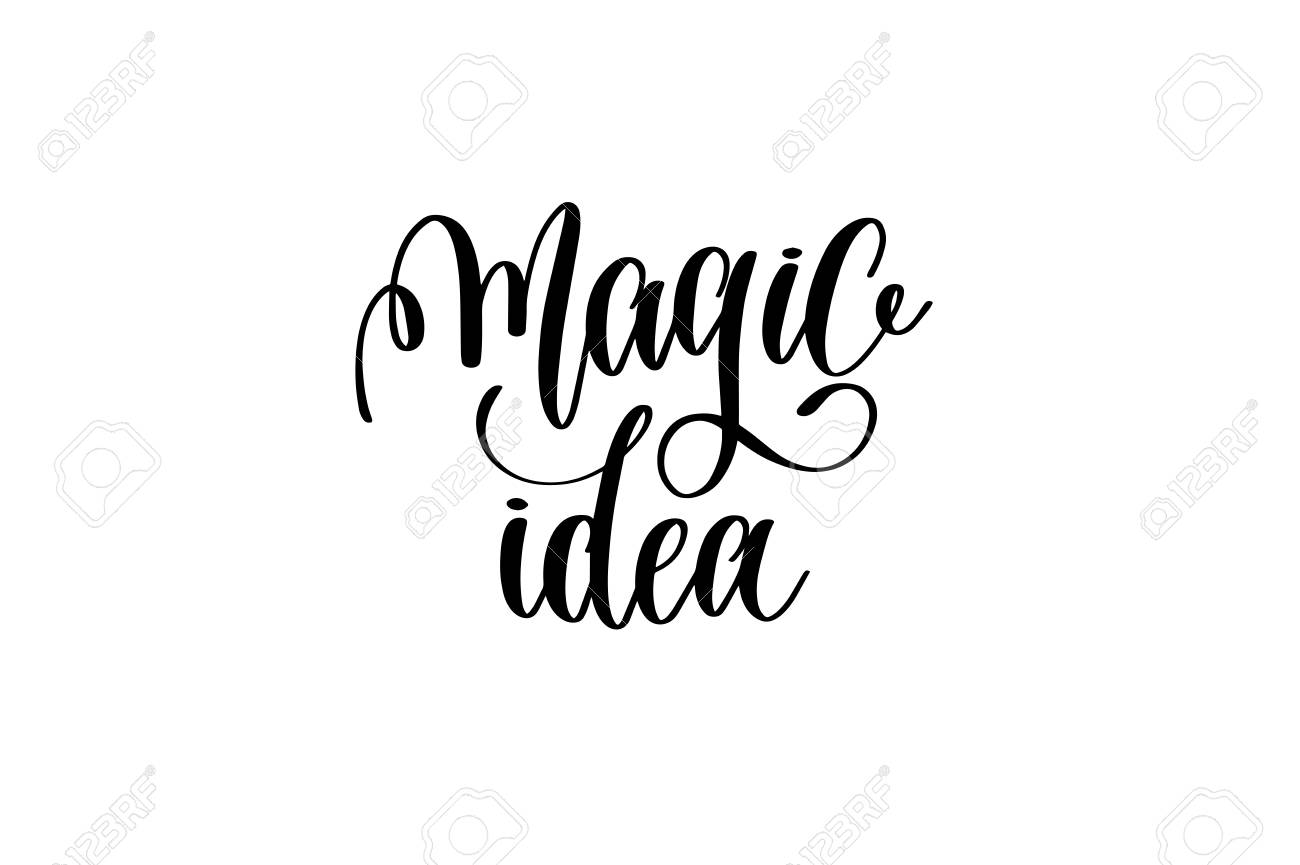 idée magique - noir et blanc main lettrage inscription rêves
