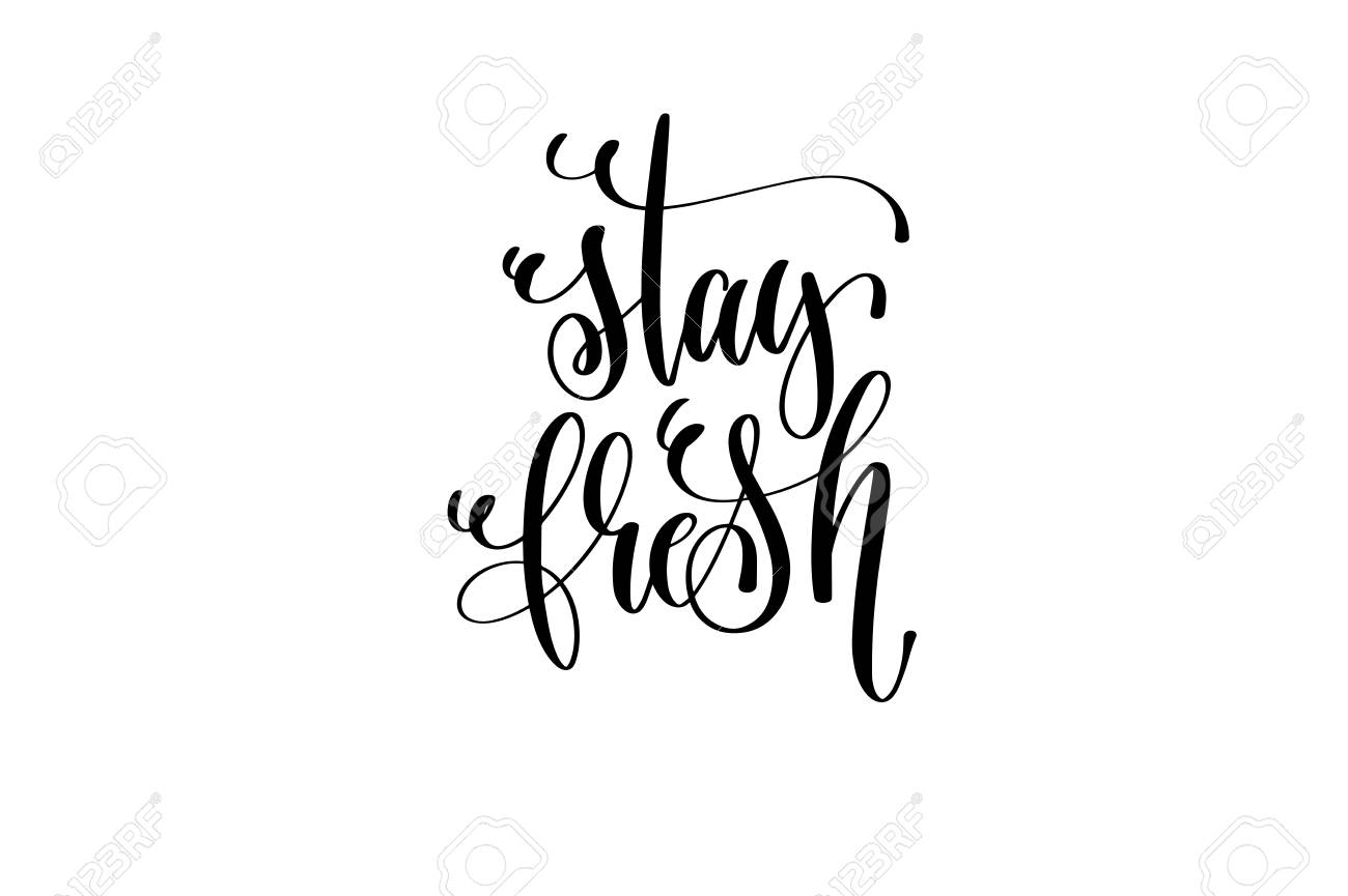 Stay Fresh Motivational And Inspirational Quote Typography