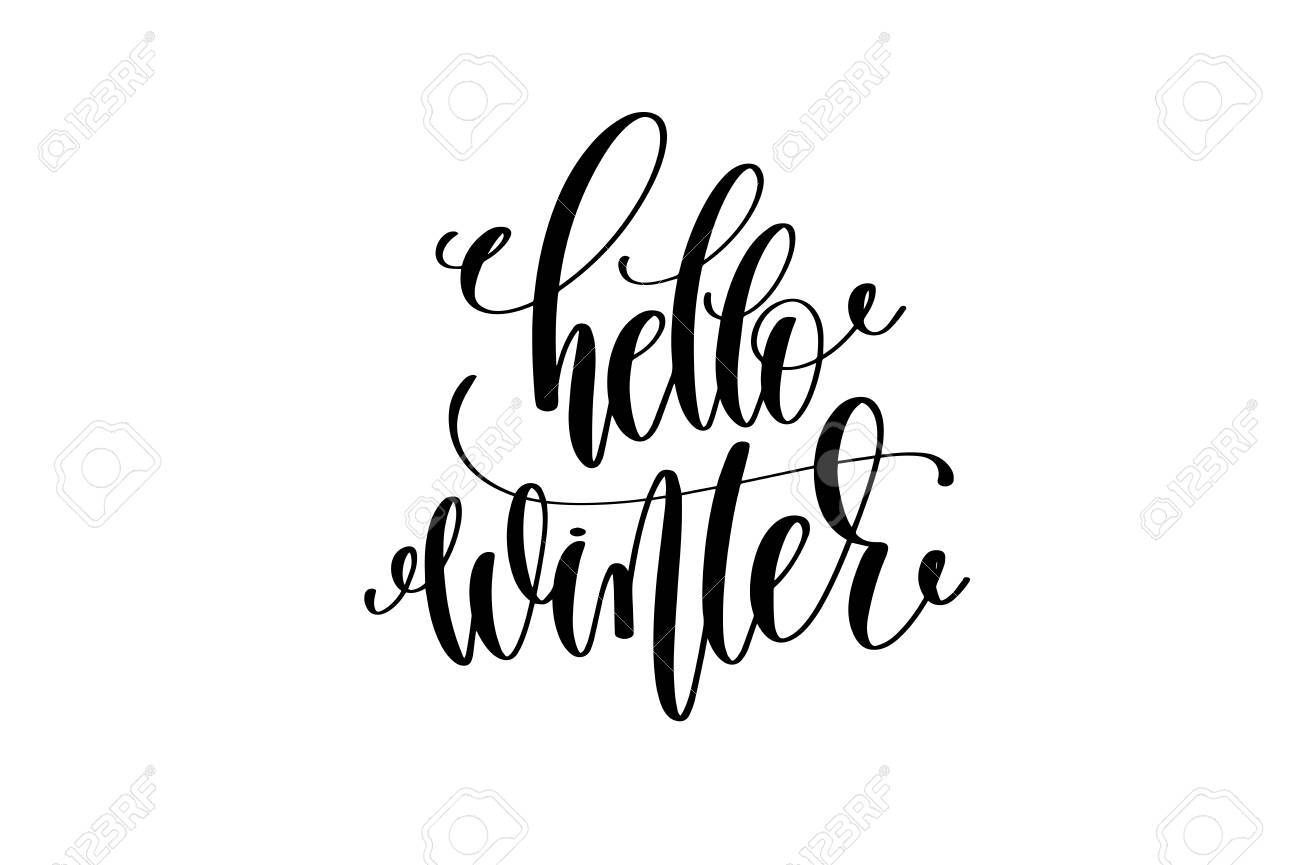 Hello Winter Motivational And Inspirational Quote Typography