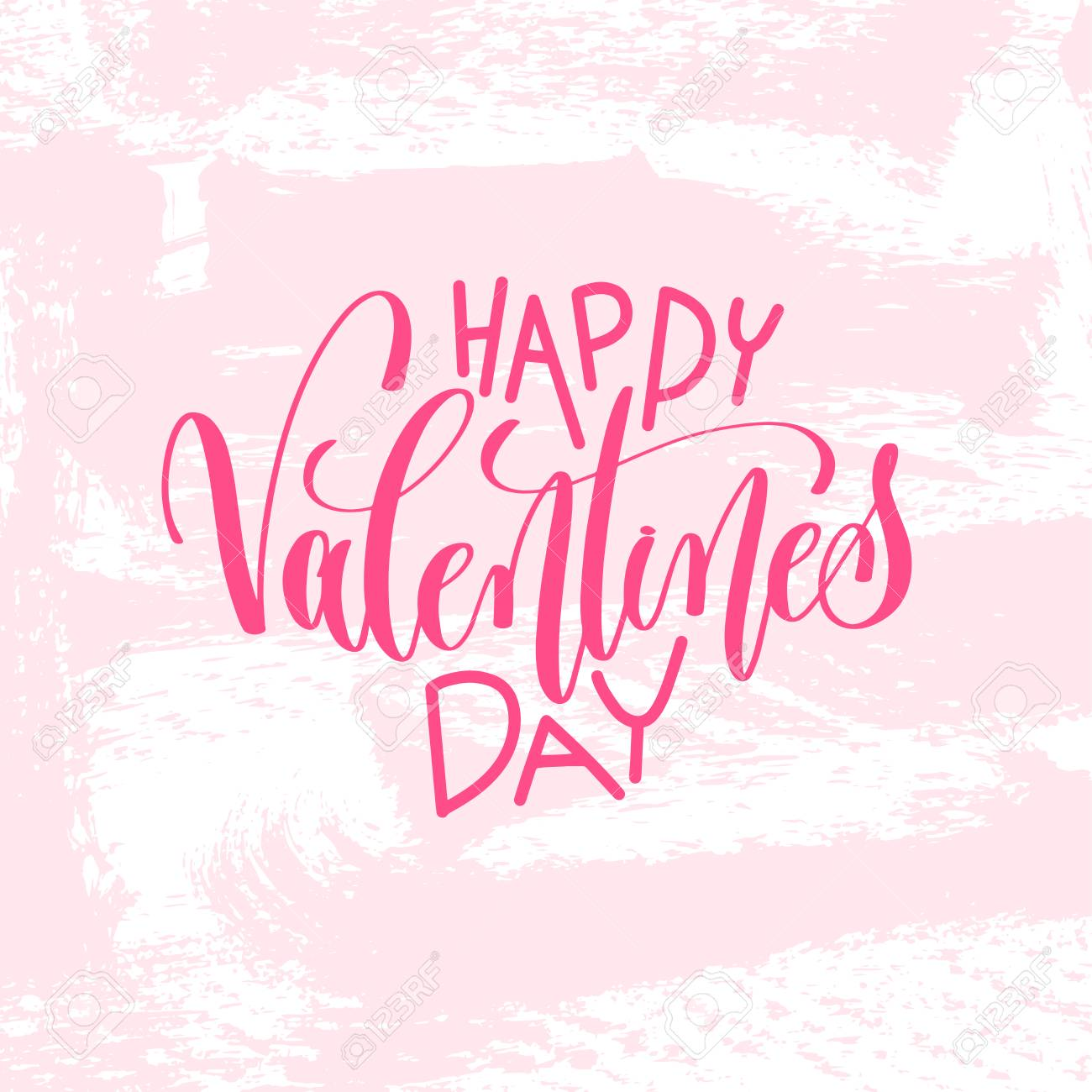 Happy Valentines Day Hand Lettering Inscription Text To Valentines
