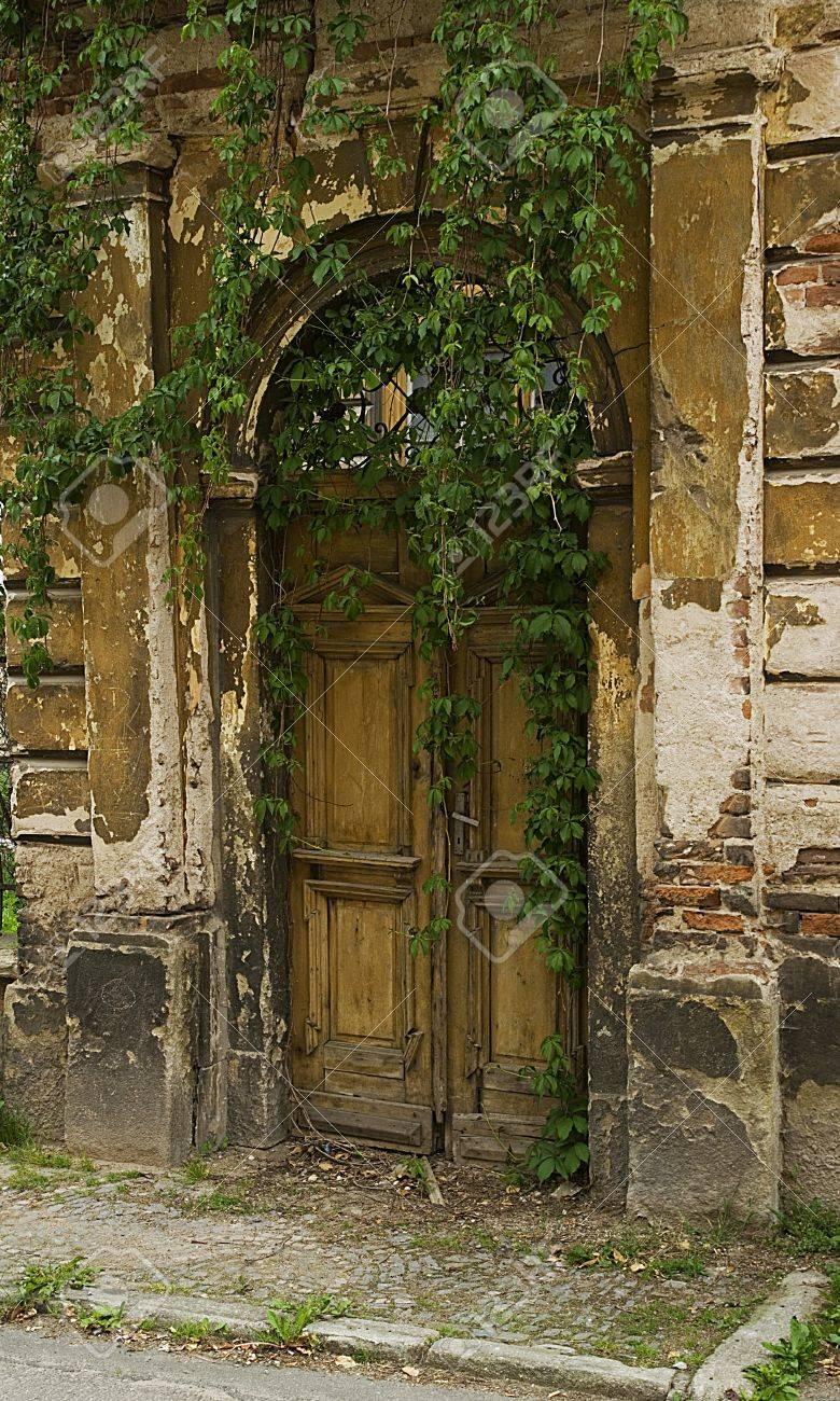 Alte Tür In Den Garten Standard Bild   11215716