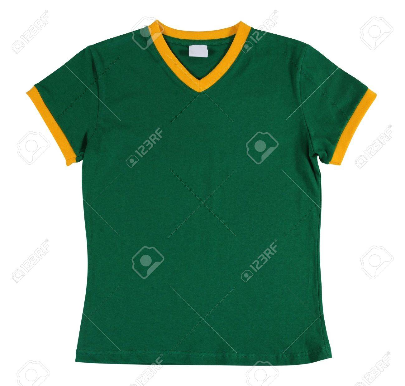 Design t shirt soccer - Green T Shirt Isolated Stock Photo 7330886