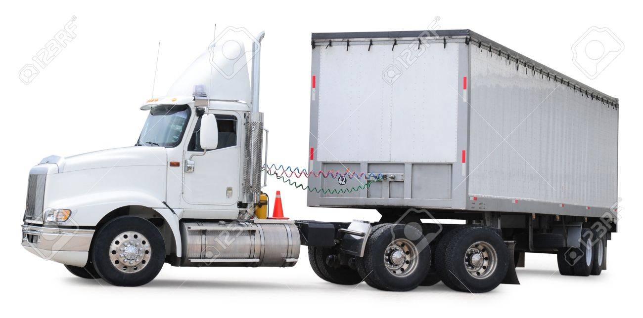 Cargo truck. Isolated Stock Photo - 7448558