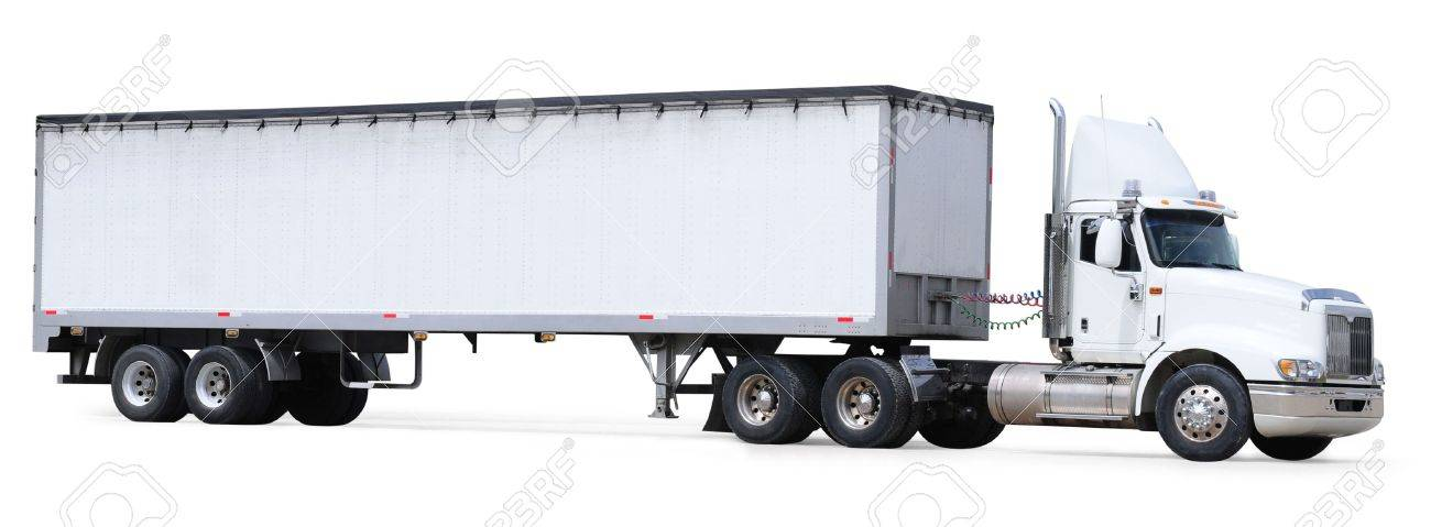 Cargo truck. Isolated Stock Photo - 7467995