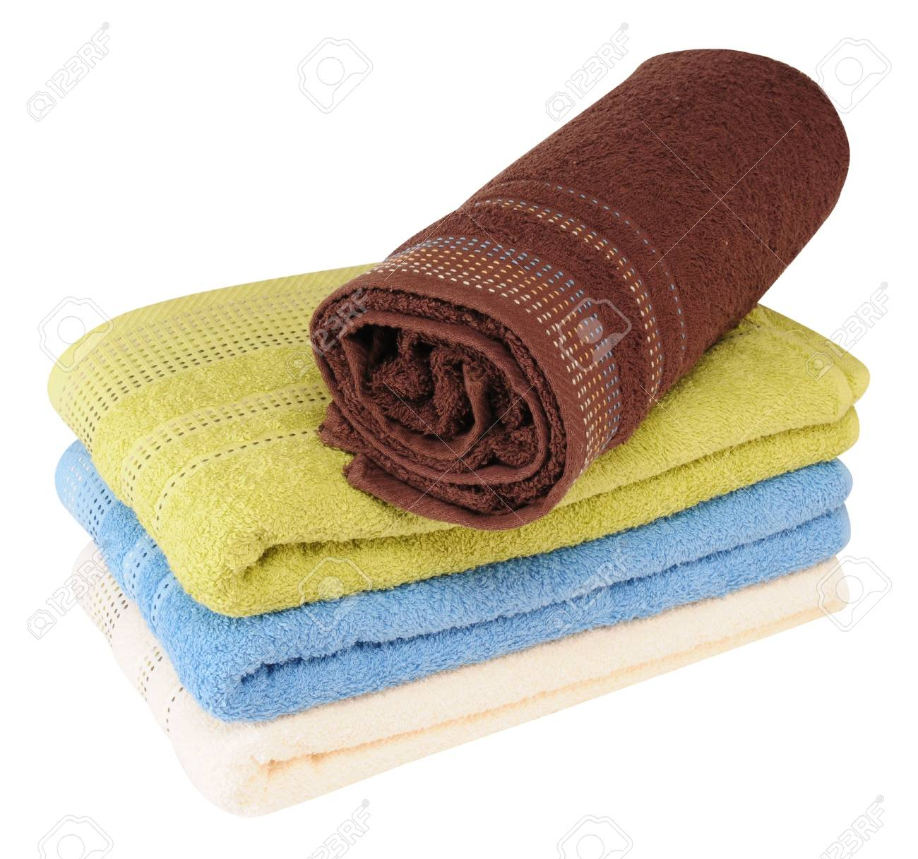 Colorful towels. Isolated Stock Photo - 8061022