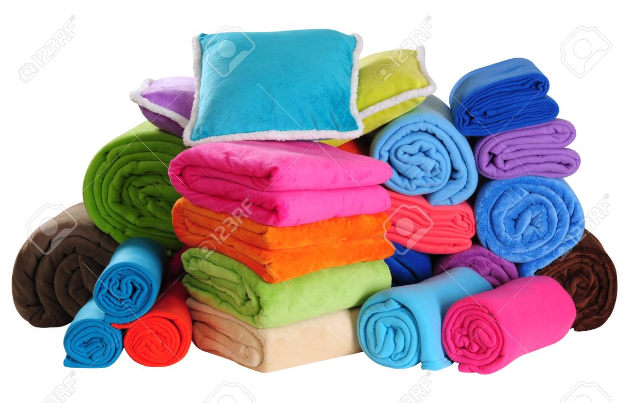 Bed spreads collection. Isolated Stock Photo - 9451191