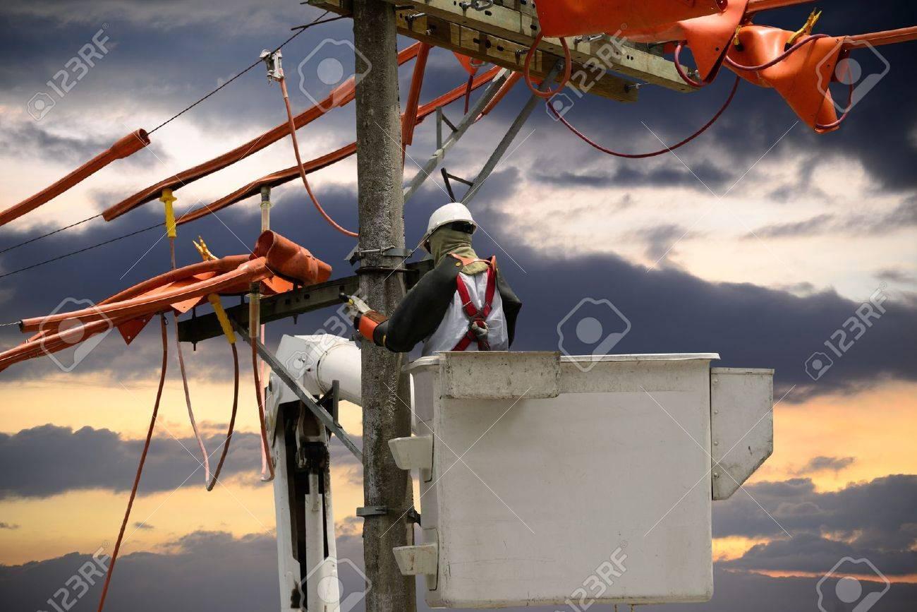 Linemen utility Stock Photo - 18564807