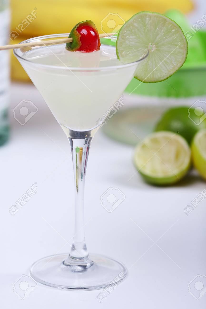 Alcohol cocktail with lime in martini glass Stock Photo - 5779330