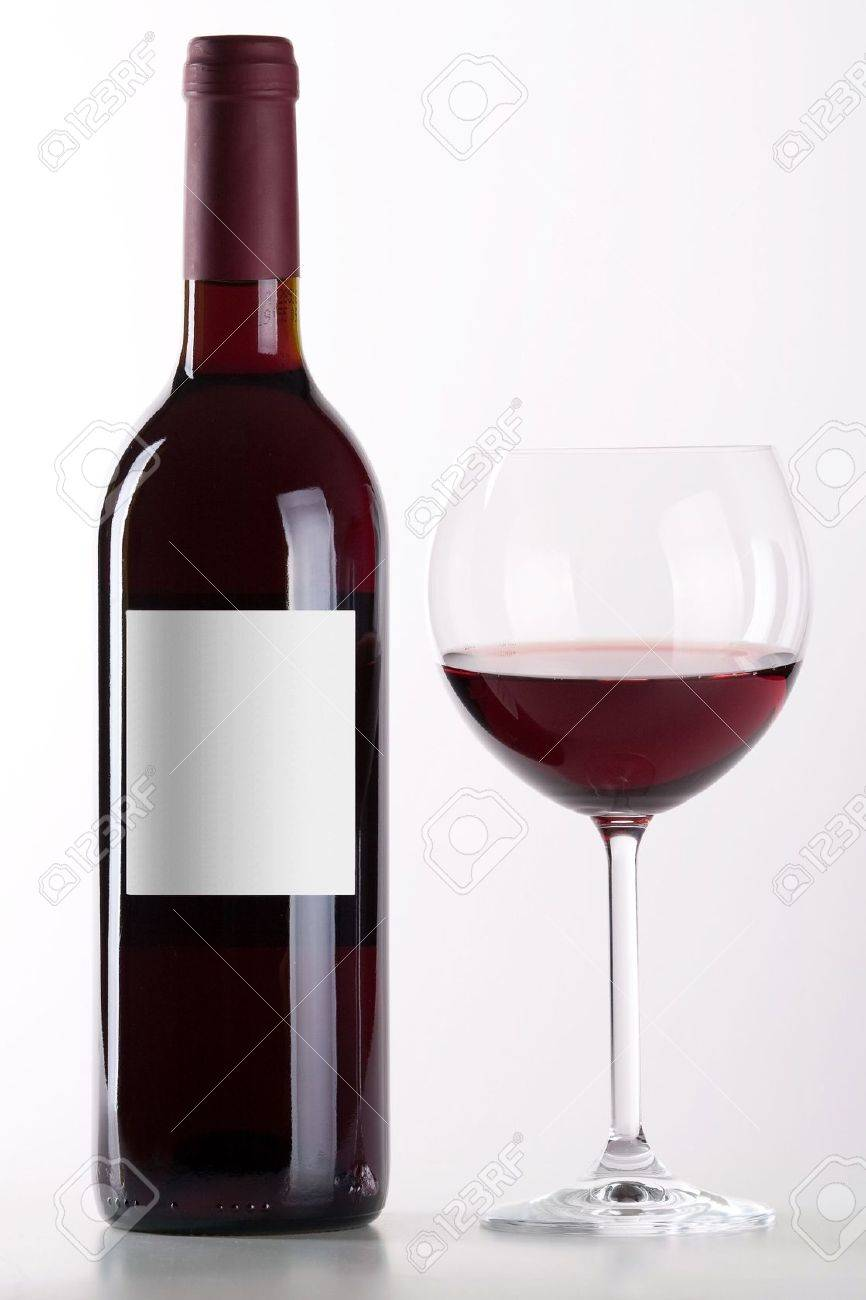 bottle and glass of red wine isolated on white background stock photo 5809379 bottle red wine