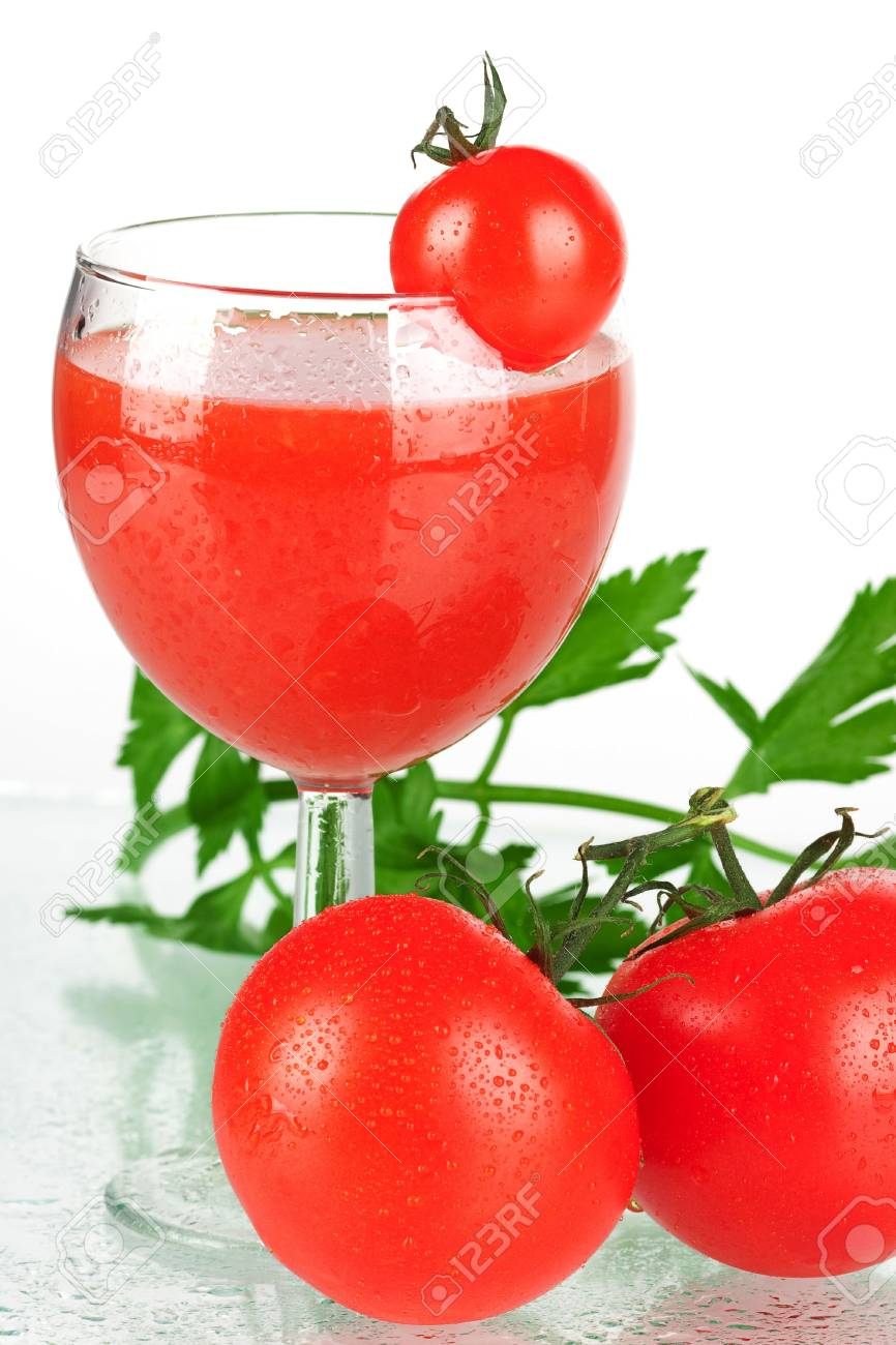 Fresh tomato juice with tomatos and celery Stock Photo - 5866308