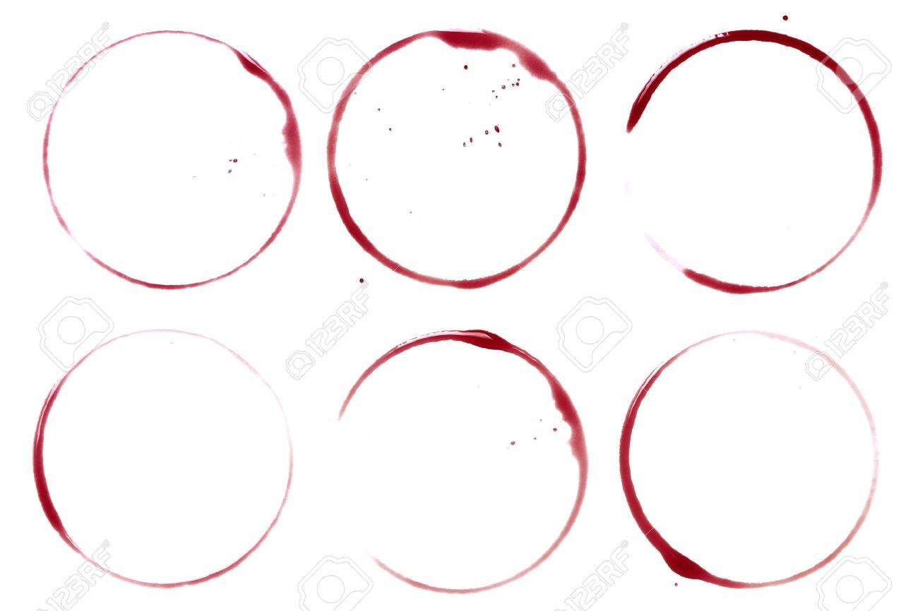 Wine collection - stains and spots. On white background Stock Photo - 6466422