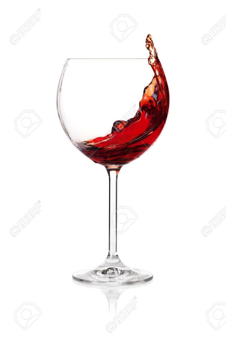 Wine collection - Splashing red wine in a glass. Isolated on white background Stock Photo - 6591755