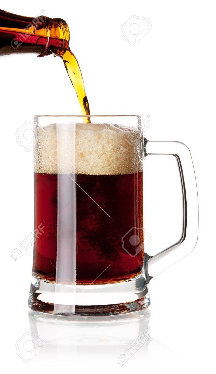 Beer collection - Beer is pouring into a glass from bottle Stock Photo - 6737143