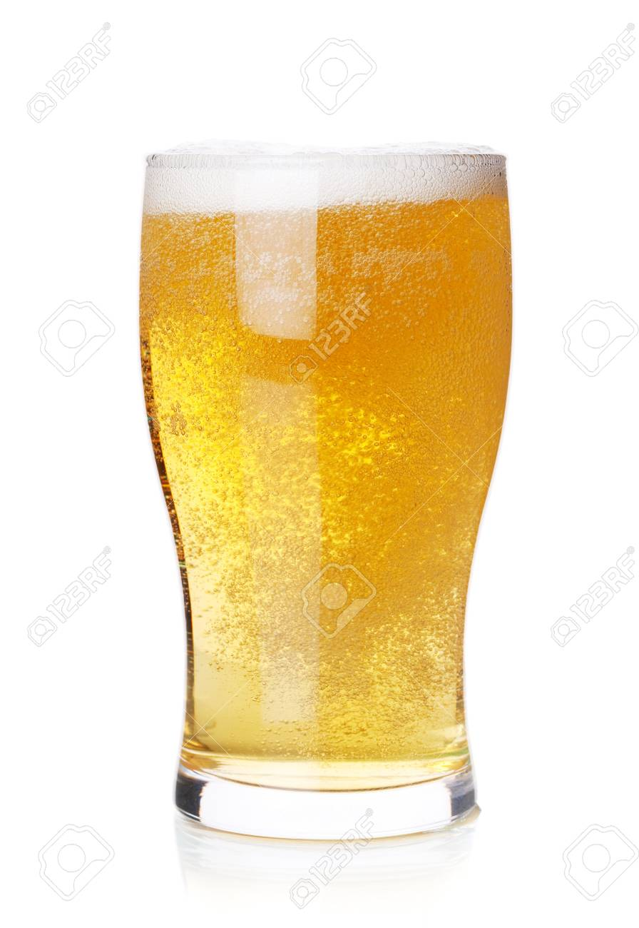 Beer collection - Cold lager beer in glass. Isolated on white background Stock Photo - 6840723