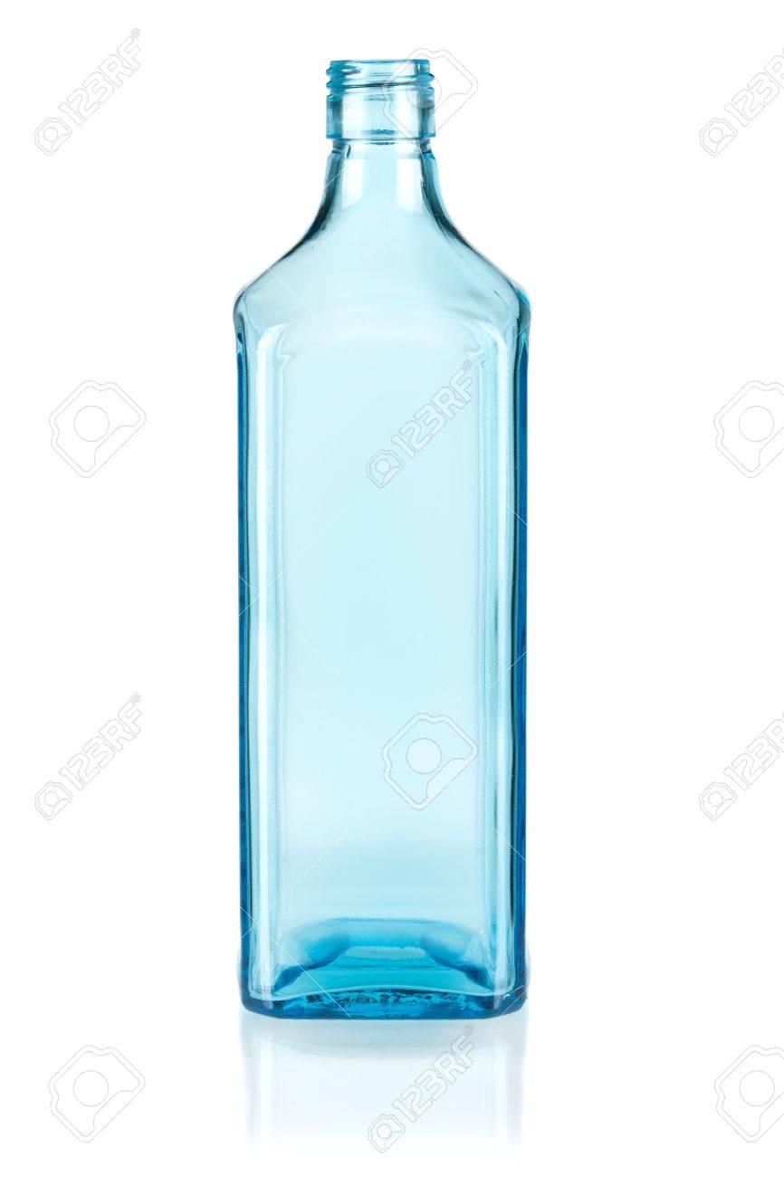 Blue empty bottle. Isolated on white background Stock Photo - 7283953