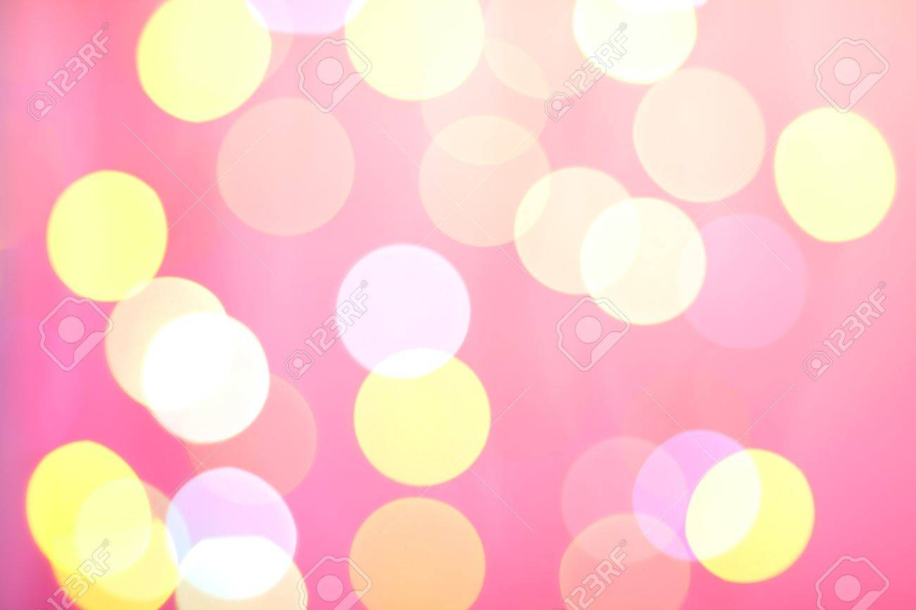 Abstract sunny bokeh on pink background Stock Photo - 9045184