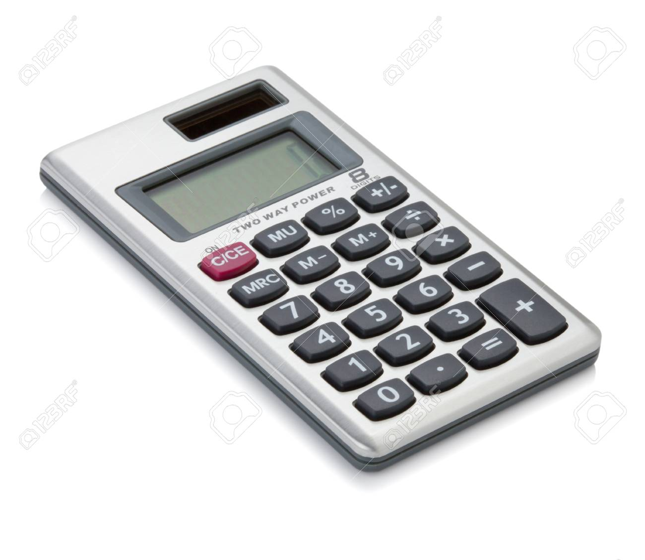Small digital calculator. Isolated on white backgound Stock Photo - 9103933