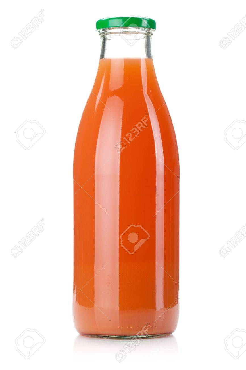 Grapefruit juice glass bottle. Isolated on white background Stock Photo - 9559973