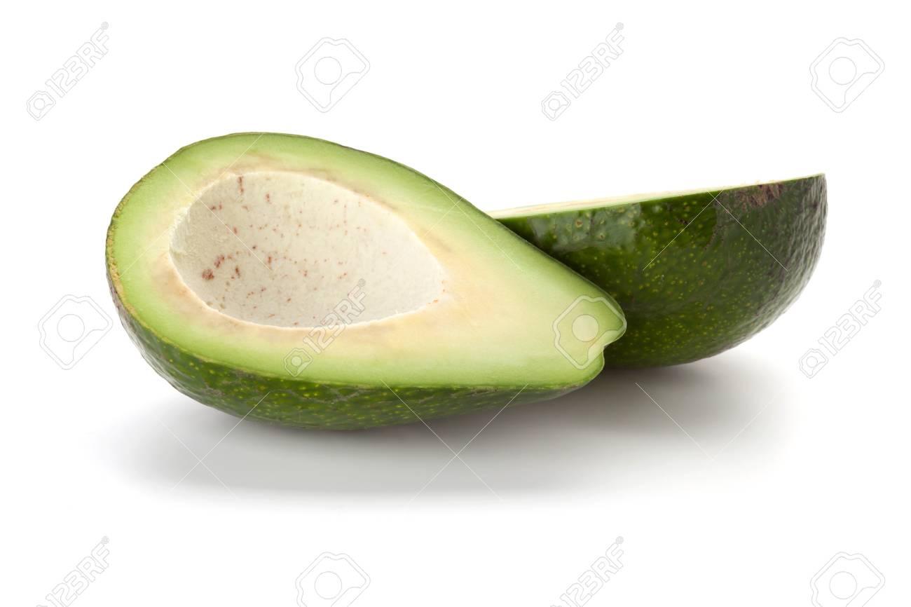 Ripe avocado. Isolated on white background Stock Photo - 9797467