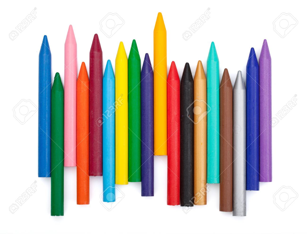 Various color markers. Isolated on white background Stock Photo - 16413558