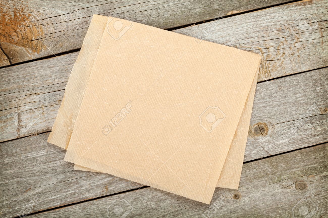 Background image table - Cooking Paper Over Wooden Table Background Stock Photo 27048971