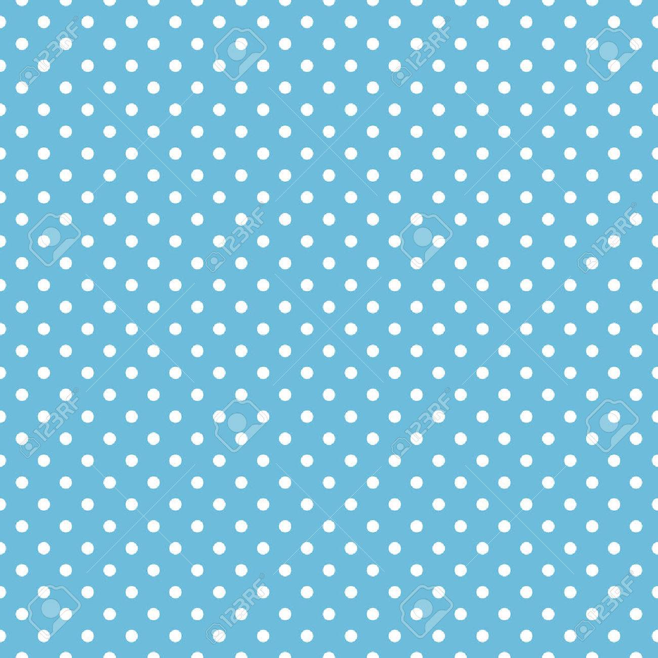 Seamless Blue Polka Dot Background Pattern Royalty Free Cliparts