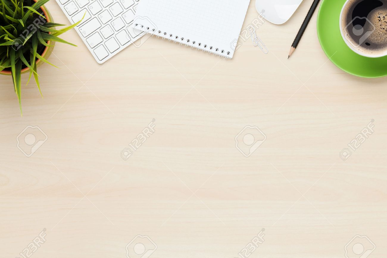 Office Desk Top View Stock Photos Royalty Free Office Desk Top