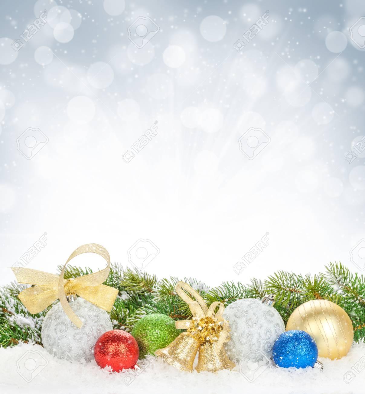 Noël Décor Coloré Et Sapin De La Neige Banque Dimages Et Photos
