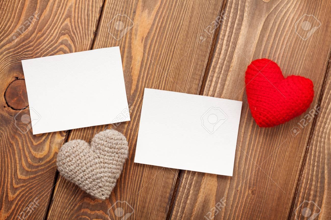 Marcos De Fotos Y Valentines Handmaded Amor Del Día Sobre Fondo De ...