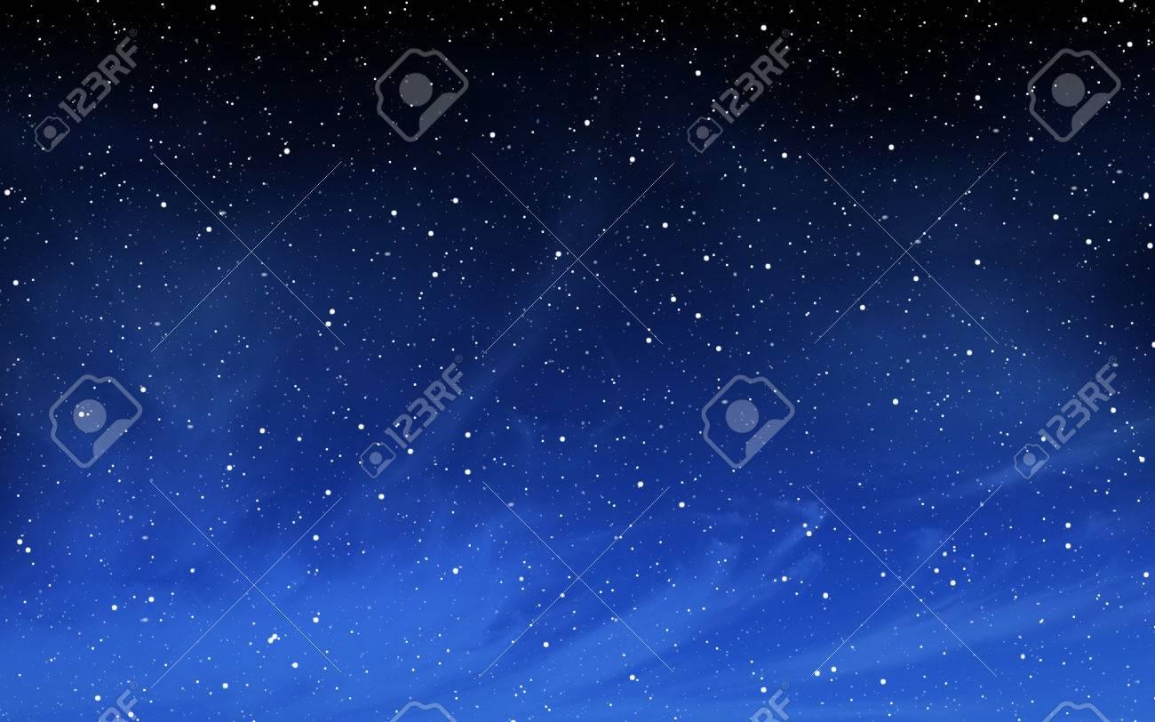 Deep night sky with many stars background - 57787937