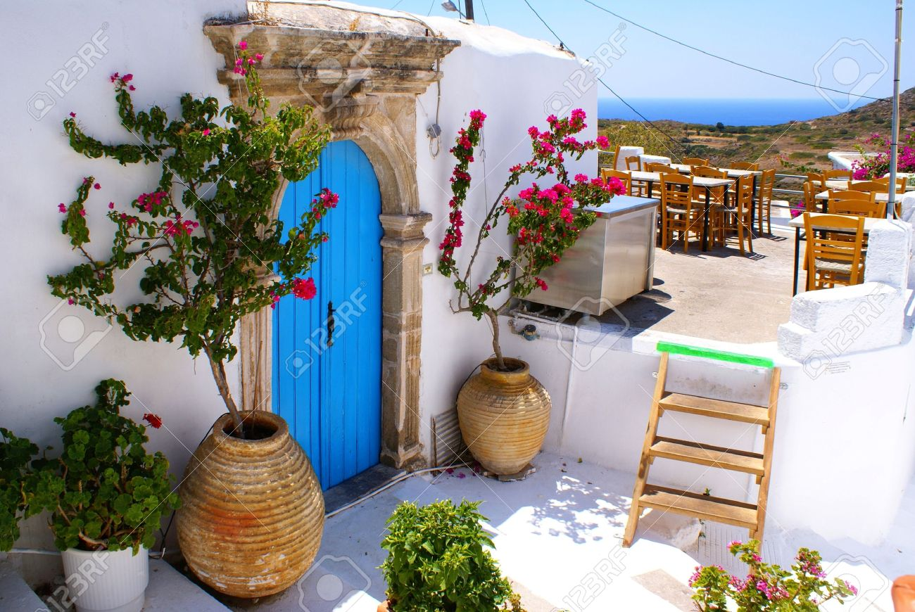 Traditional Greek House greek traditional house located at kithira island stock photo