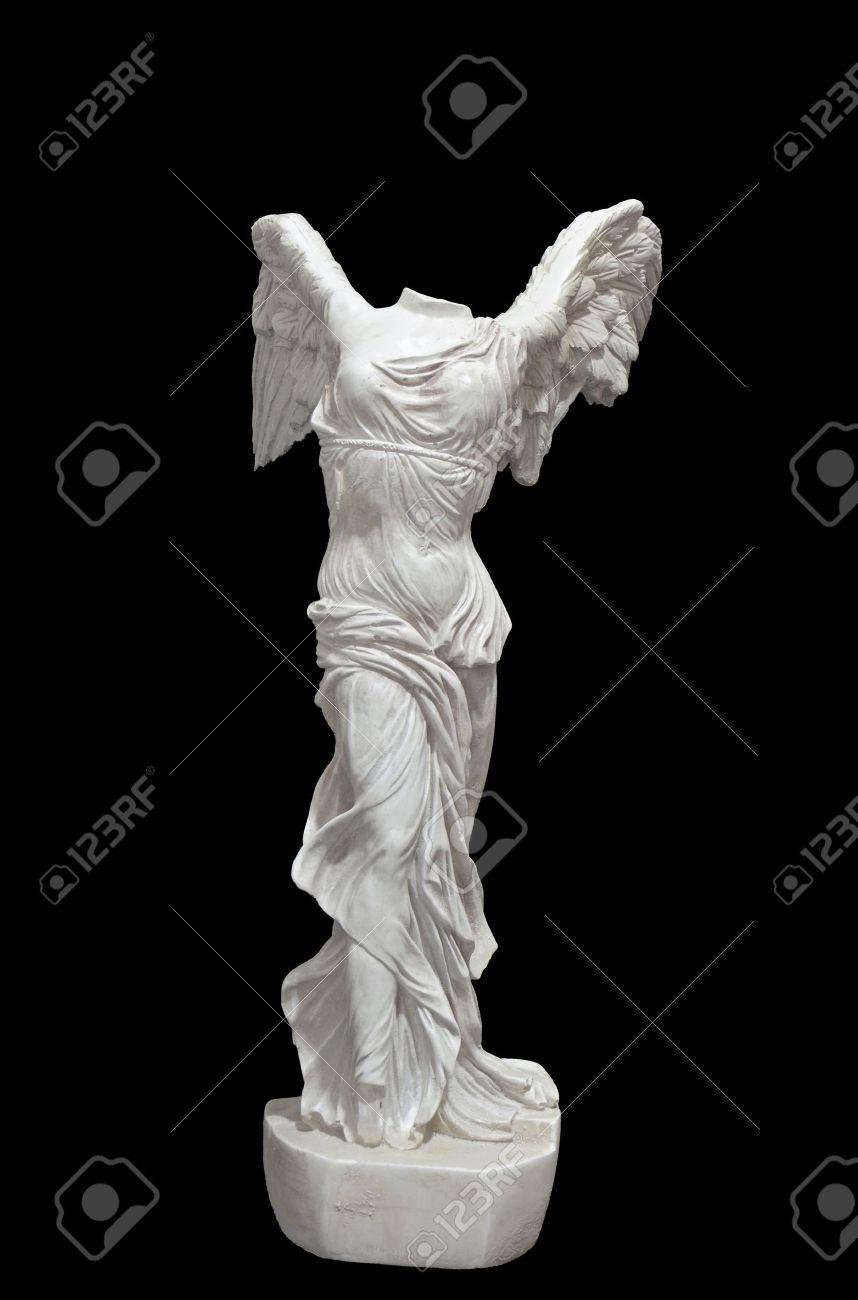 Greek classical statue of Nike of Samothrace Stockfoto - 15875133