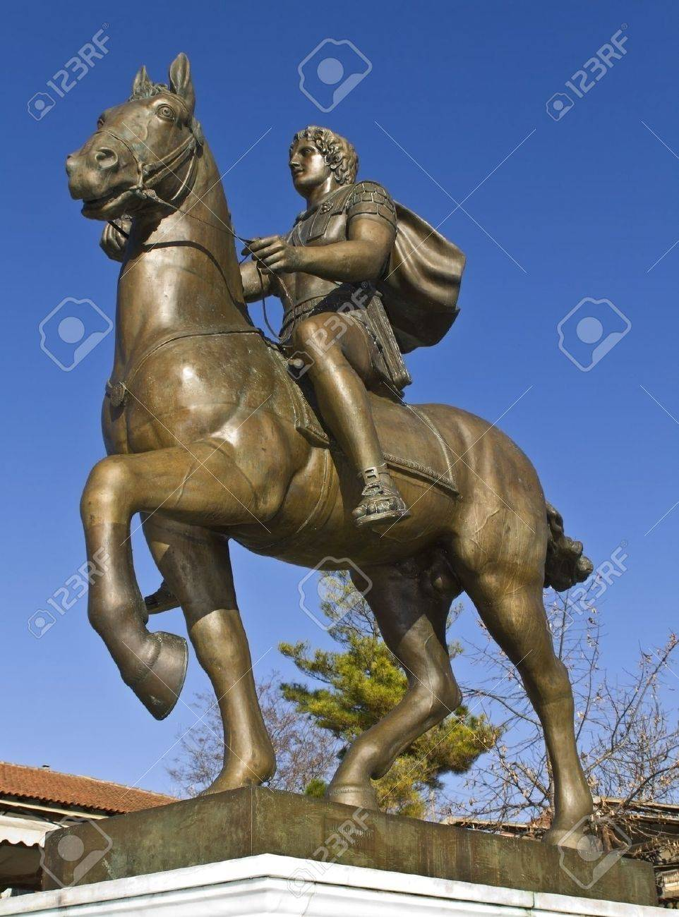 Alexander the Great statue at ancient Pella, Greece Stock Photo - 15926853