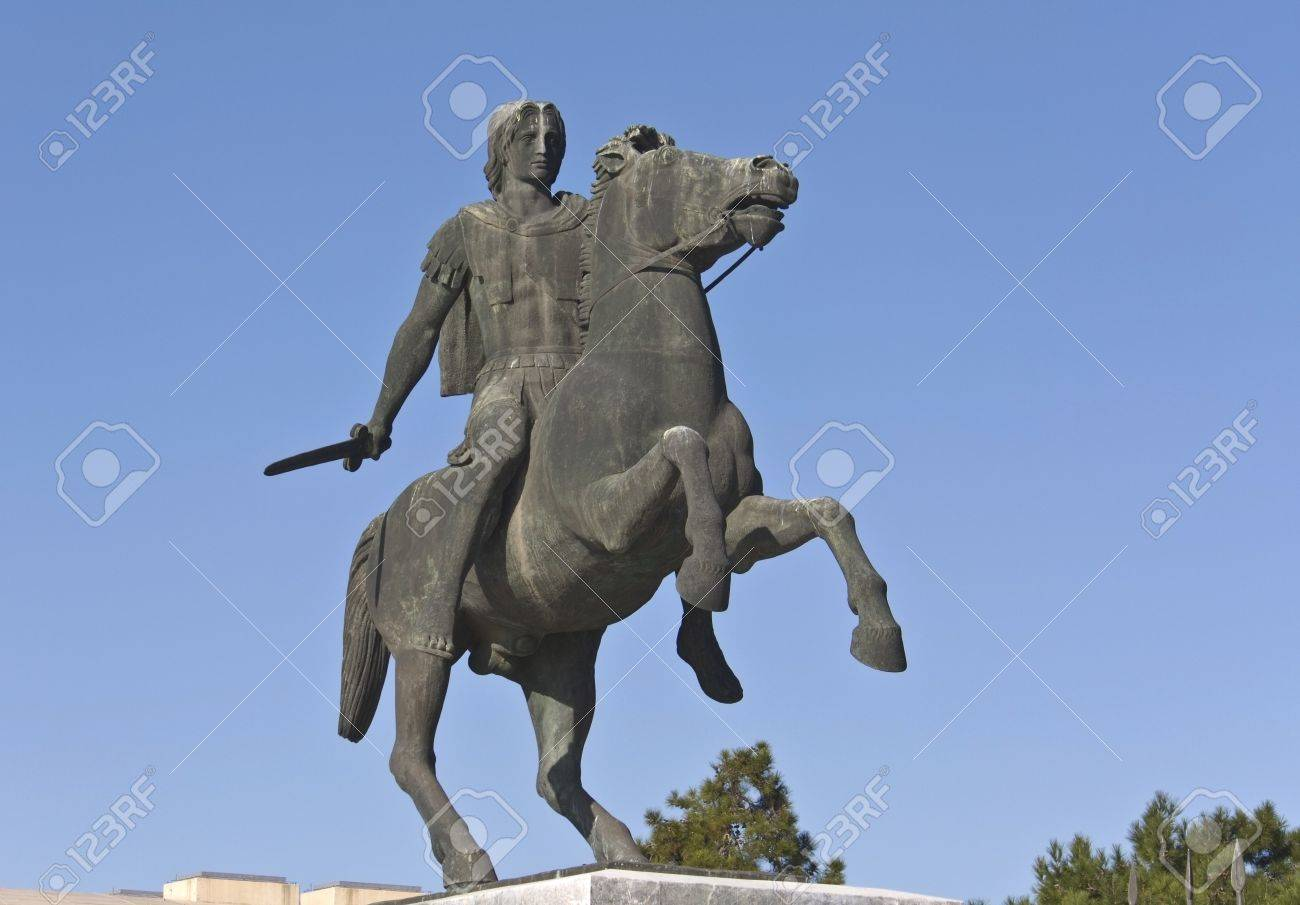 Alexander the Great statue at Thessaloniki in Greece Stock Photo - 15875877
