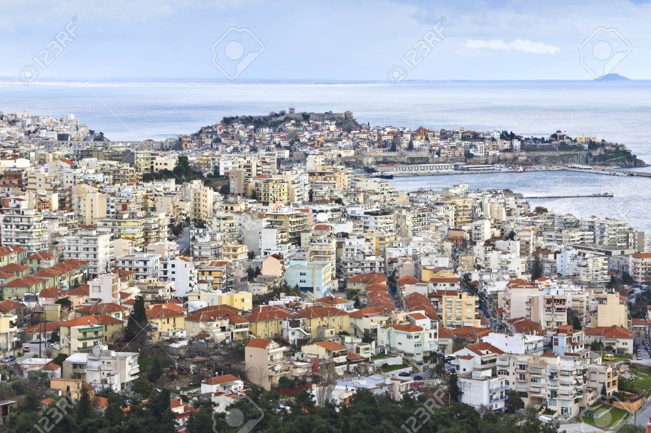 Kavala city at North Greece, province of Macedonia Stock Photo - 15926908