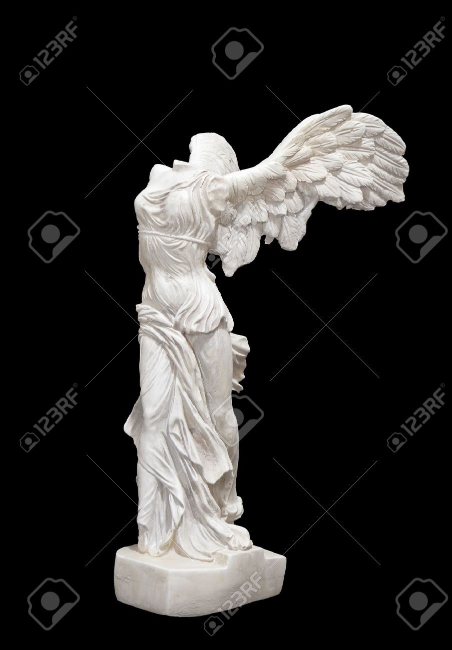 Greek classical ancient statue of Nike of Samothrace Stock Photo - 16031374