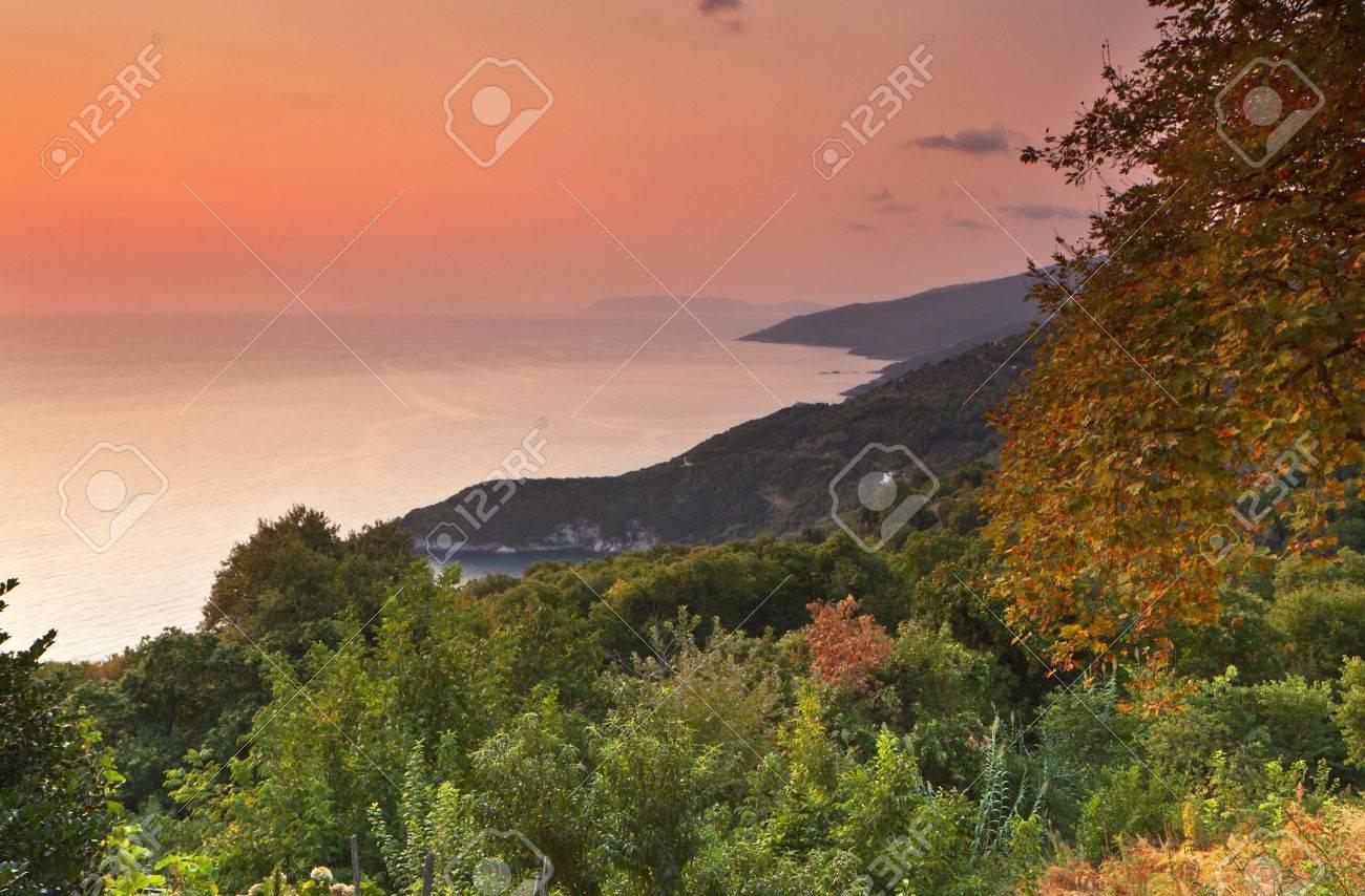 Tsagarada area landscape from Pelion in Greece Stock Photo - 16041876