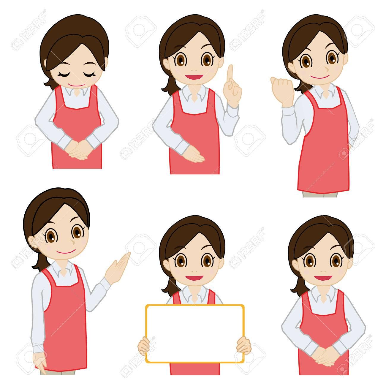 Movement of female salesperson Foto de archivo - 29450289