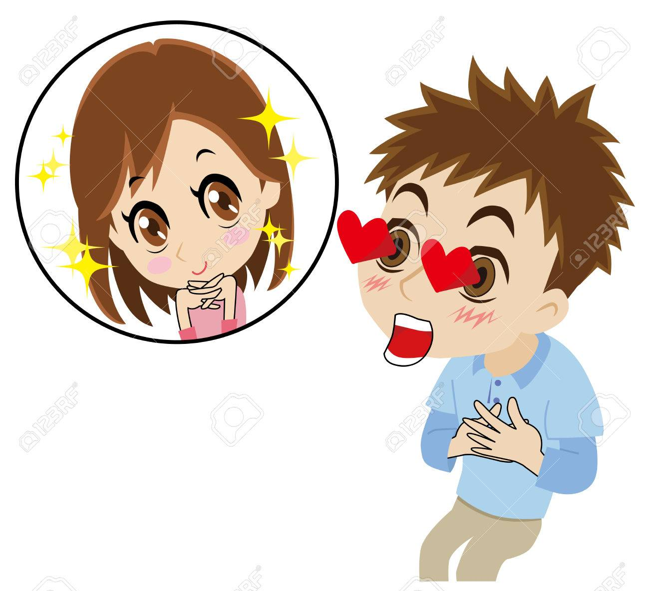 Man To Fall In Love With At First Sight Royalty Free Cliparts, Vectors, And  Stock Illustration. Image 37241756.