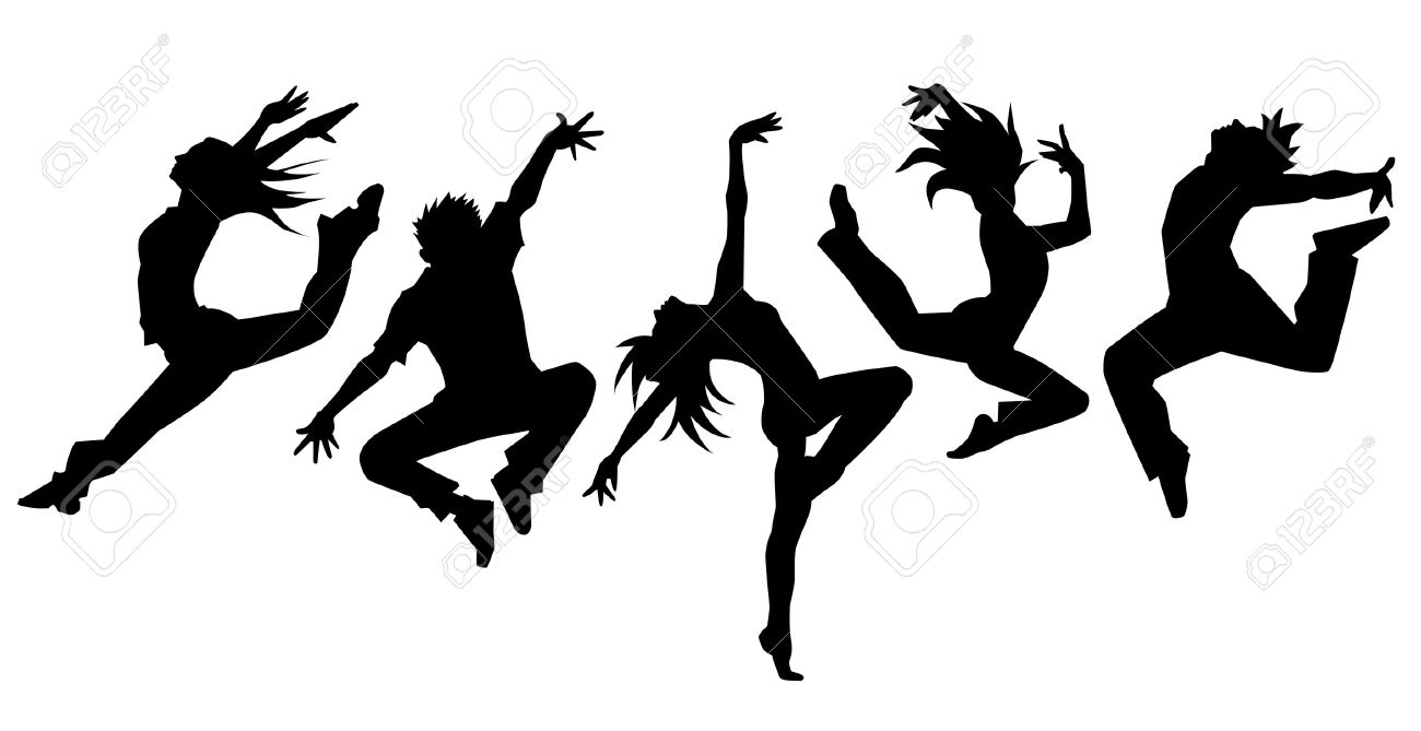 Silhouet dansers