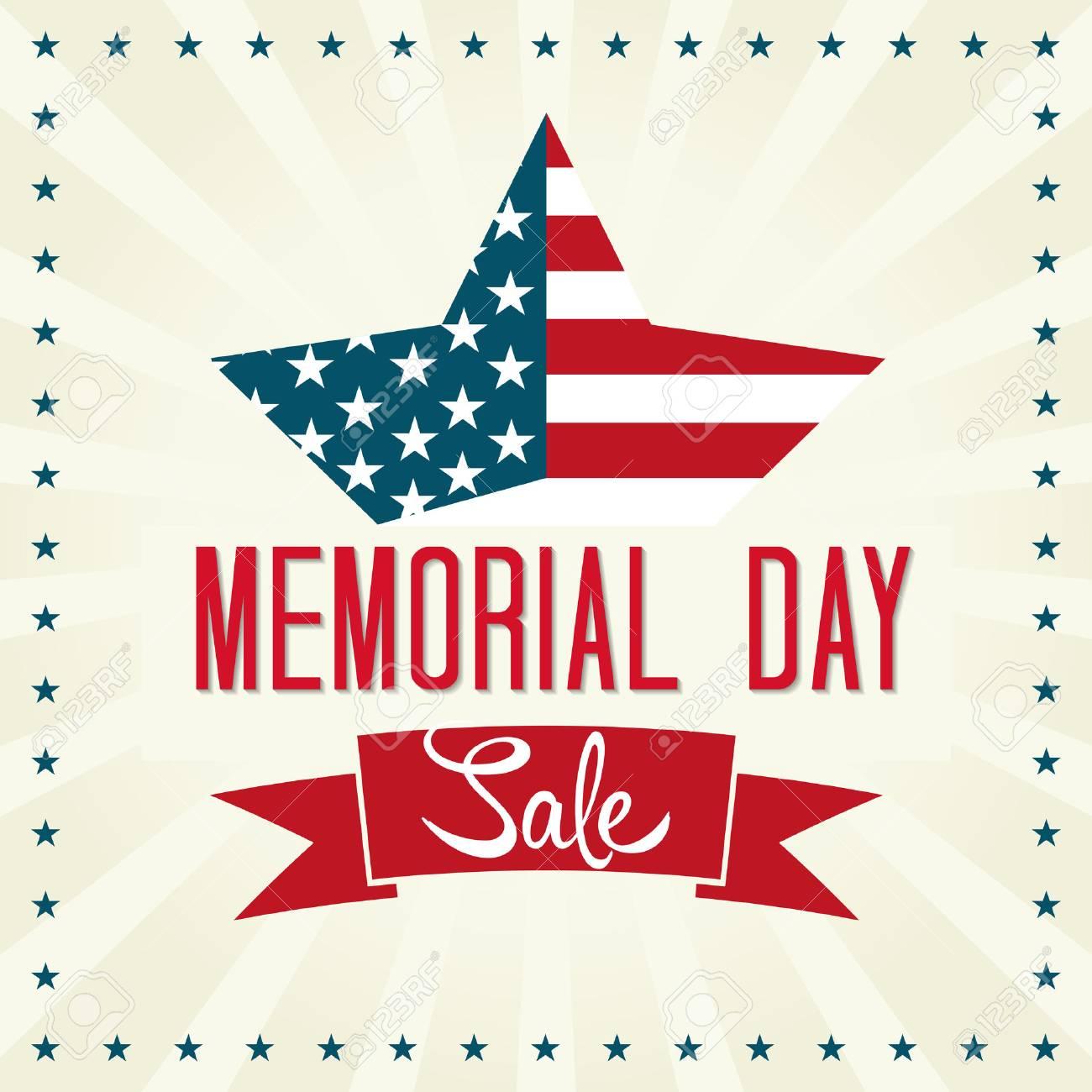 記念日セール イラストアメリカの国旗の星のイラスト素材ベクタ