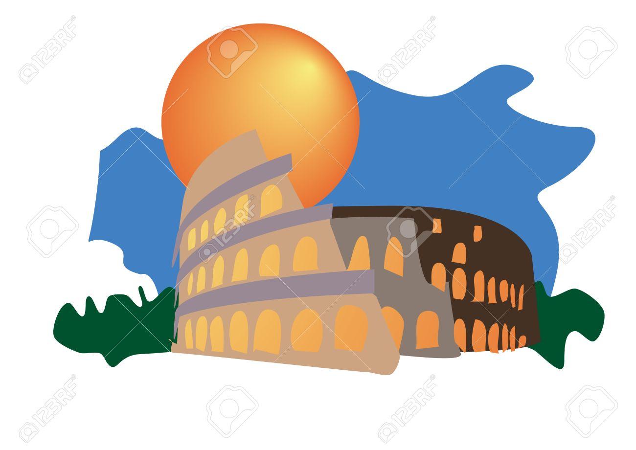 Colosseum of Rome tourism icon Stock Vector - 4750249