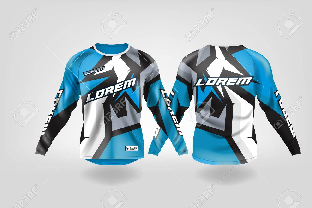 T Shirt Sport Design Template Long Sleeve Soccer Jersey Mockup Royalty Free Cliparts Vectors And Stock Illustration Image 130417790