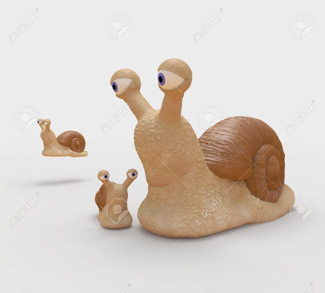 family of snails on walk flying snail stock photo picture and