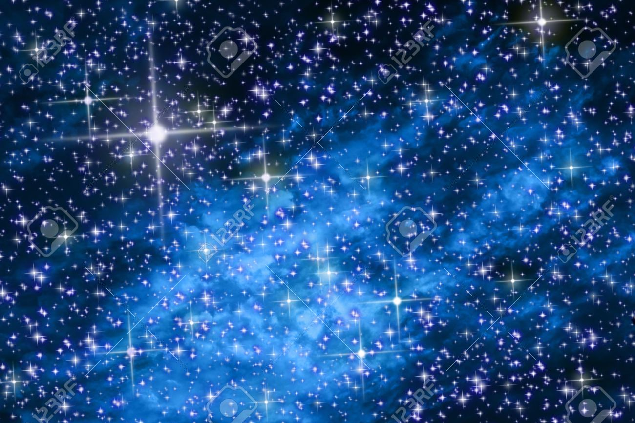 The night sky in stars and blue galaxies Stock Photo - 7973489