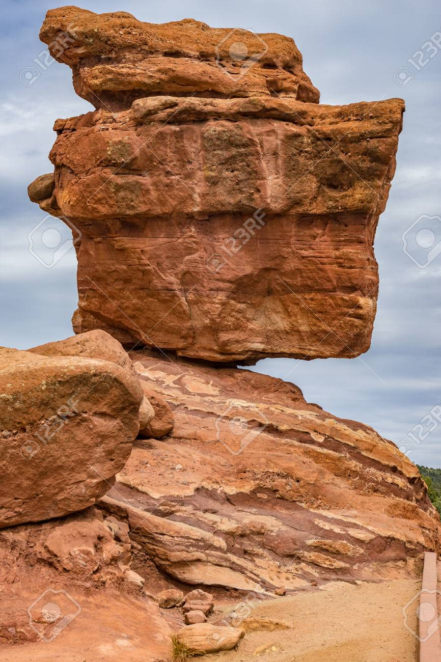 Balanced Rock In Garden Of The Gods In Colorado Springs Colorado