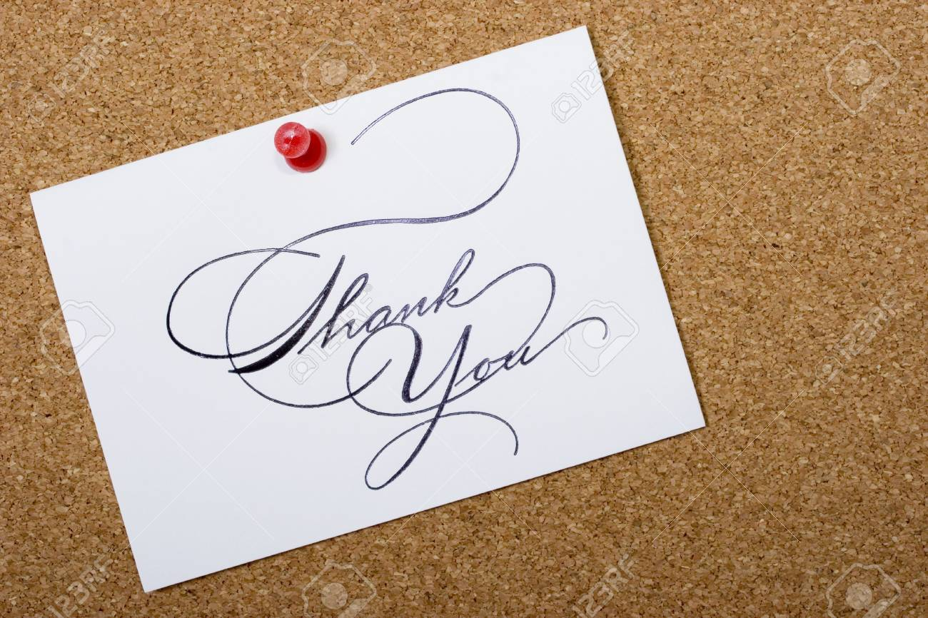 Bulletin board with thank card and copy space for your personalized message Stock Photo - 833704